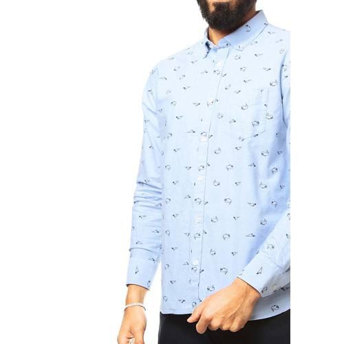 Camisa Rosé Pistol para Hombre  - Azul