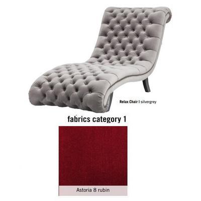 Silla de descanso My Desire Relax, tela 2 - Astoria 8 rubin (81x96x173cms)