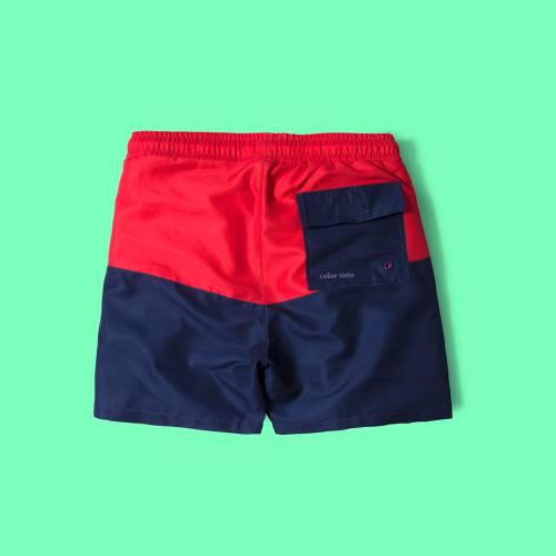 Pantaloneta Color Siete Para Hombre - Rojo