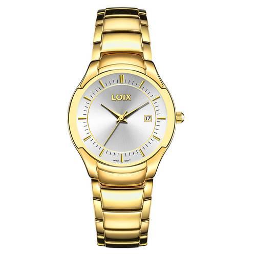 Reloj Gris - Dorado - L1029-01