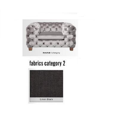 Poltrona My Desire, tela 2 - Linen Black  (128x66x105cms)