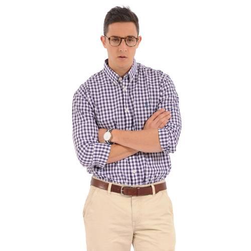 Camisa Manga Larga Wainscott Jack Supplies para Hombre- Morado