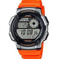 Reloj digital gris-naranja W-4B