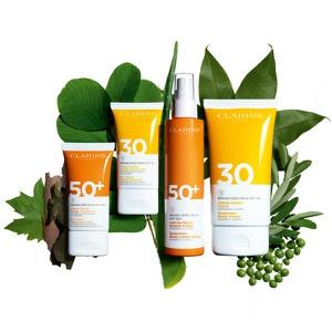 Protector Solar Corporal Leche en Spray Calrins SPF50+ 150 ml