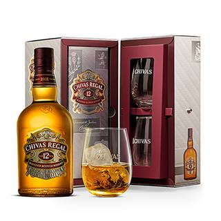 Whisky Chivas Regal 12Años 750ml + 2 Vasos