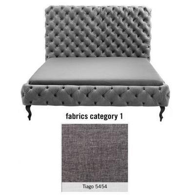 Cama (Alta) Desire, tela 1 - Tiago   5454, (135x197x228cms), 180x200cm (no incluye colchón)