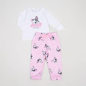 Pantalón punto+ camiseta manga larga Baby Girl