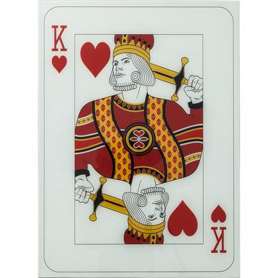 Cuadro cristal King Of Hearts 90x66cm