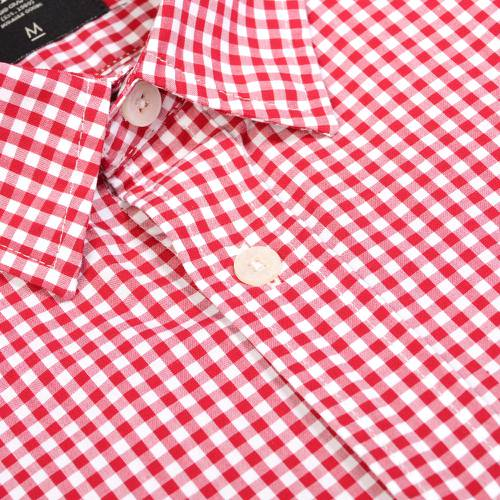 Camisa Cuadros Manga Larga - Rojo