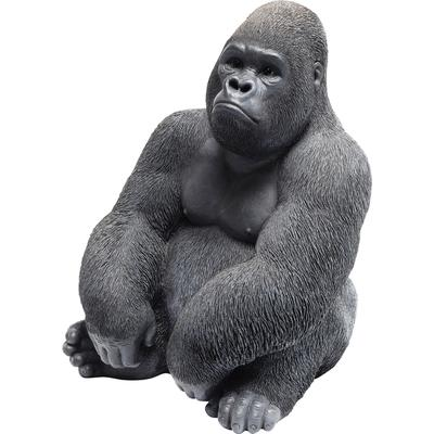 Figura decorativa Monkey Gorilla Side mediano negr