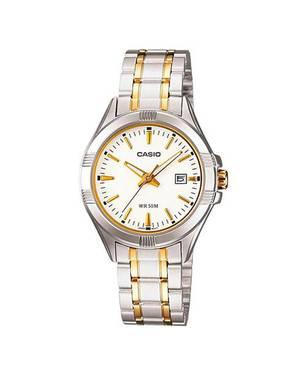 Reloj Análogo Blanco-Plateado -7Av - Casio