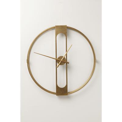 Reloj pared Clip oro Ø60cm