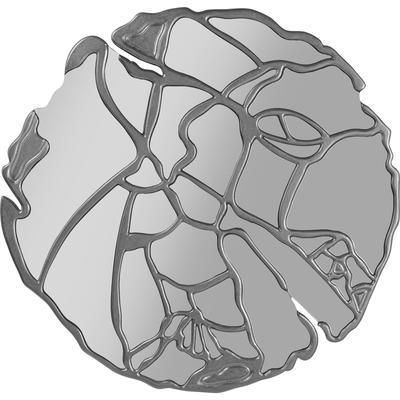 Espejo Pieces plata Ø100cm