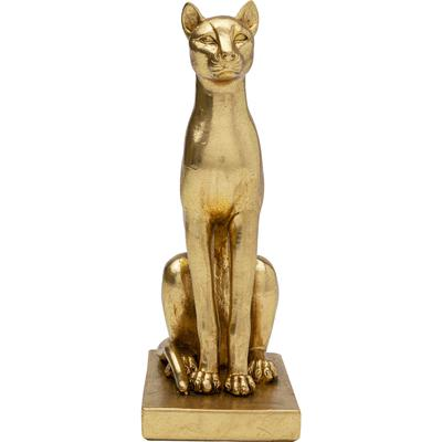 Objeto decorativo Sitting Cat oro 25cm