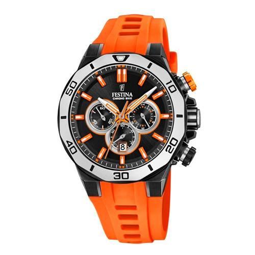 Reloj analógico negro-naranja 50-2