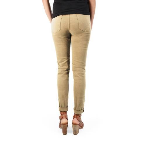 Pantalon Calistoga Cinco Bolsillos Color Siete Para Mujer  - Beige