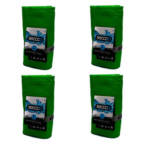 SetX 4 Toallas de Microfibra Verde L