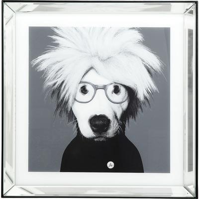 Cuadro Frame Mirror Artist Dog 60x60cm