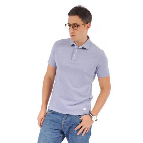 Polo Color Siete Para Hombre - Azul