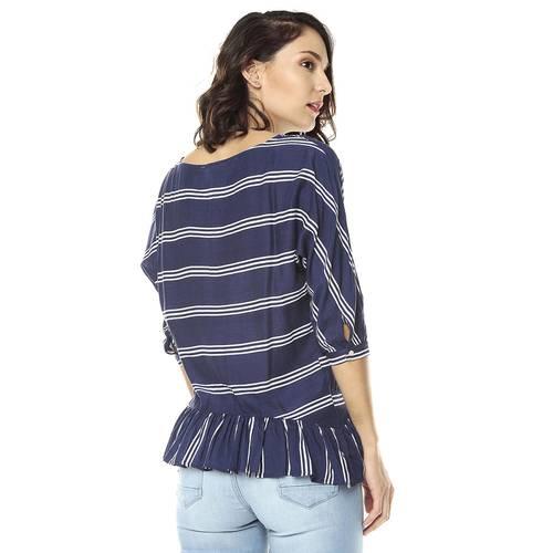 Blusa Color Siete para Mujer - Azul