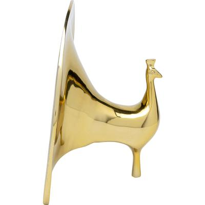 Objeto decorativo Peacock oro
