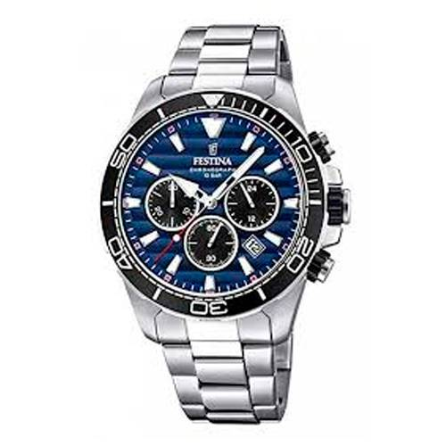 Reloj analógico azul-acero 61-3