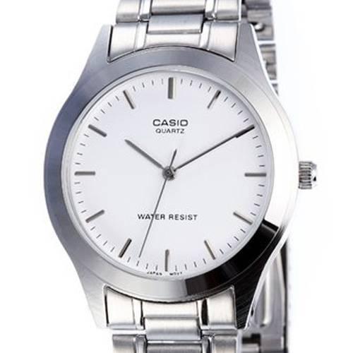 Reloj gents blanco-plateado MTP-1128A-7A