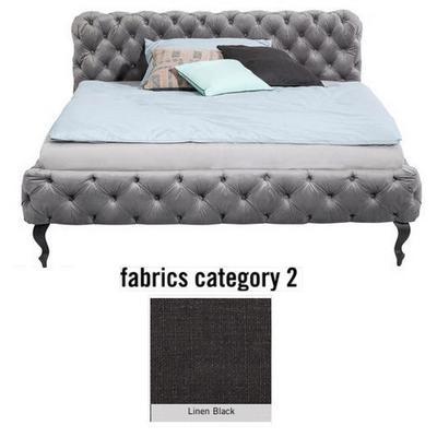 Cama Desire, tela 2 - Linen Black, (100x197x228cms), 180x200cm (no incluye colchón)
