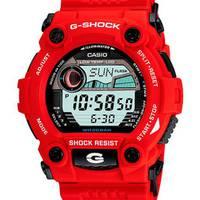 Reloj g-shock digital gris-rojo A-4D