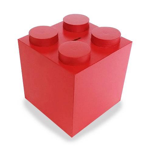 Alcancía Mediana Lego Rojo