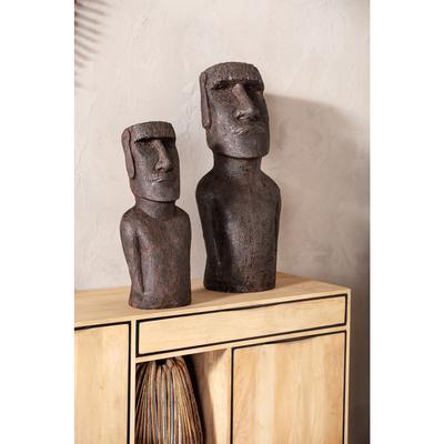 Objeto decorativo Easter Island 59cm