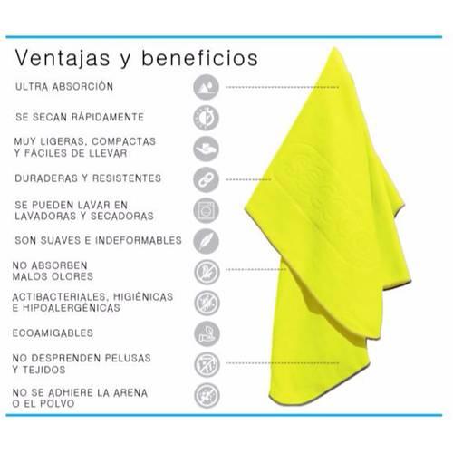 Set X 4 Toallas De Microfibra Marca Talla L Amarillo Llaa - SECCCO