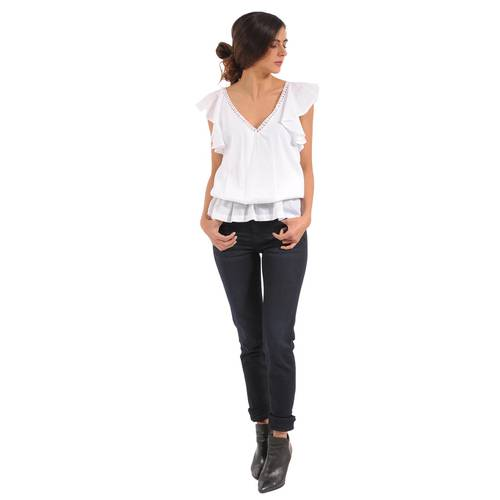 Blusa Lucile Color Siete Para Mujer - Blanco