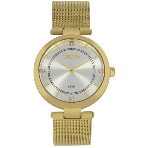 Reloj análogo plateado-dorado 24-3