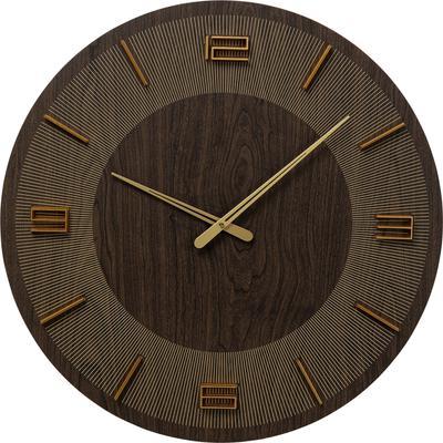 Reloj pared Levi marrón Ø60