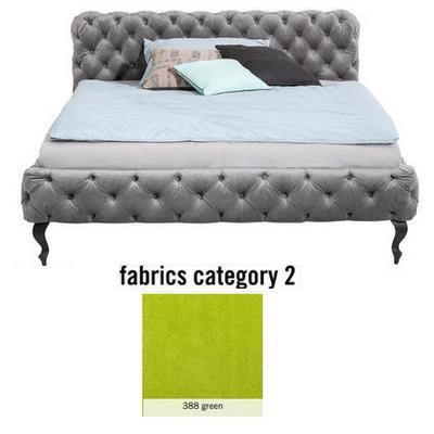 Cama Desire, tela 2 - 388 green,  (100x177x228cms), 160x200cm (no incluye colchón)