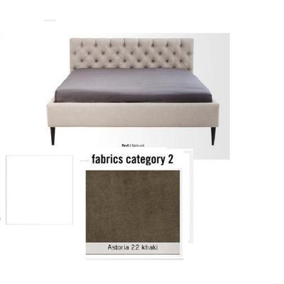 Cama Nova,  tela 2 - Astoria 22 khaki, (85x220x215cms), 180x200cm (no incluye colchón)