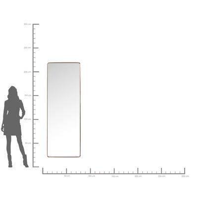 Espejo Curve Rectangular cobre 200x70 cm