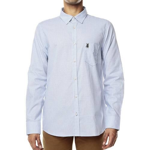 Camisa Manga Larga Jack Supplies para Hombre-Blanco