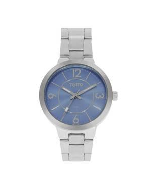 Reloj análogo azul-plateado 19-3