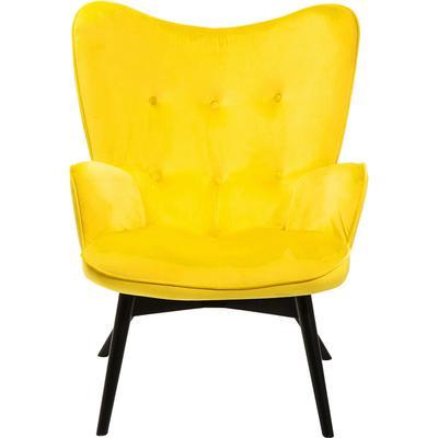 Sillón Black Vicky Velvet amarillo
