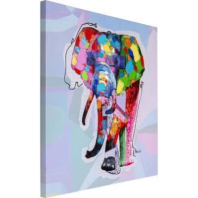 Cuadro Wildlife Elephant 80x80cm
