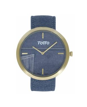 Reloj análogo azul-azul 06-2