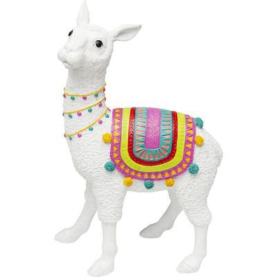 Objeto decorativo Alpaca blanco 51cm