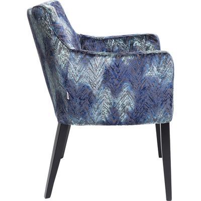 Silla reposabrazos Black Mode Fancy azul