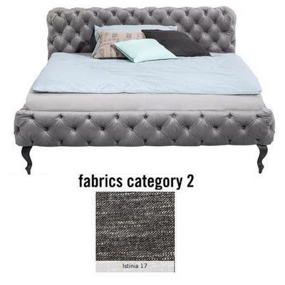 Cama Desire, tela 2 - Istinia 17,  (100x177x228cms), 160x200cm (no incluye colchón)
