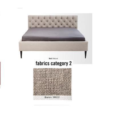 Cama Nova,  tela 2 - Baron 9502,   (85x180x215cms), 160x200cm (no incluye colchón)