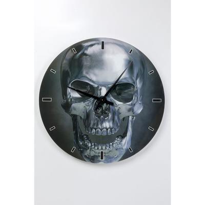 Reloj pared cristal Skull Ø80cm