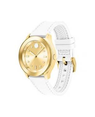 Reloj análogo dorado-blanco 0410