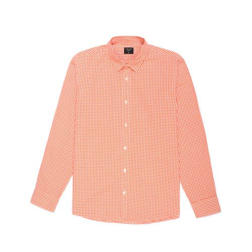 Camisa Cuadros Manga Larga - Naranja
